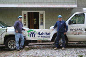 Maguire Company supports Habitat For Humanity of Greater Boston, providing plumbing services at no cost
